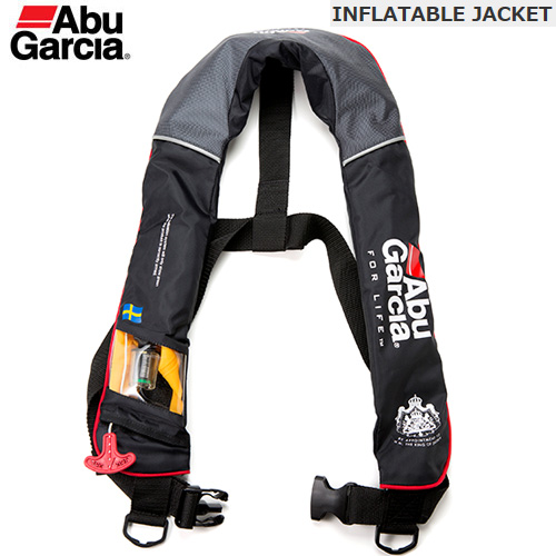 ●アブガルシア Abu インフレータブルジャケット BLACK(ブラック) 国土交通省型式承認品 桜マークあり 【まとめ送料割】