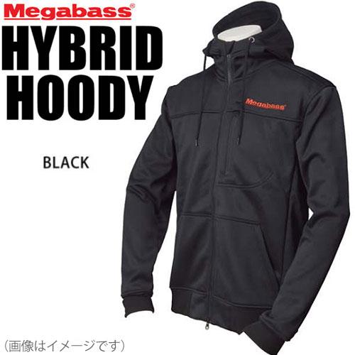 ●メガバス ハイブリットフーディ(ジャケット) ブラック 【まとめ送料割】