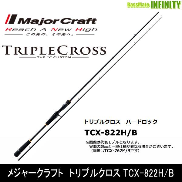 ●メジャークラフト トリプルクロス TCX-822H/B ハードロックモデル(ベイト)