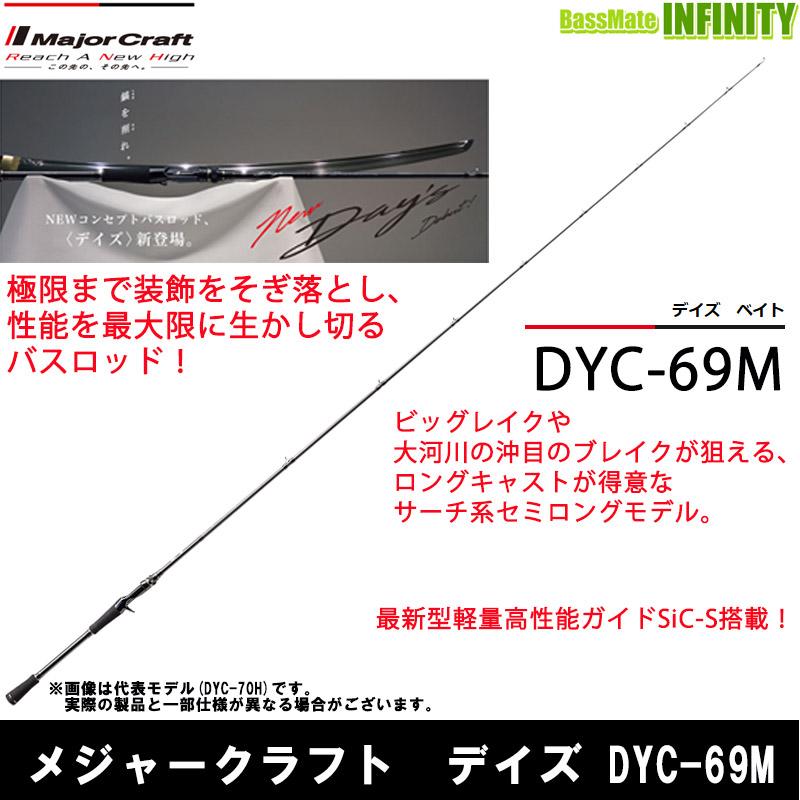 <title>ついに入荷 メジャークラフト デイズ DYC-69M 1ピース ベイトモデル</title>