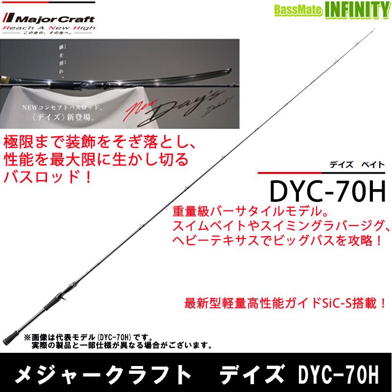 ●メジャークラフト デイズ DYC-70H (1ピース ベイトモデル)