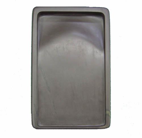 【中国硯】『坑仔岩角型(厚口)/10吋』木箱付 2550g 書道用品