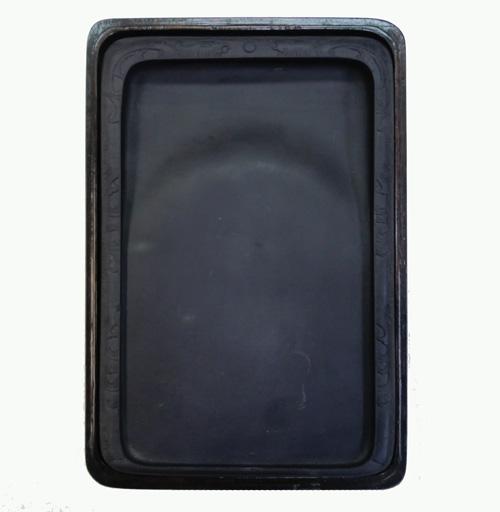 【中国硯】『坑仔岩10吋』木箱付 1860g 書道用品