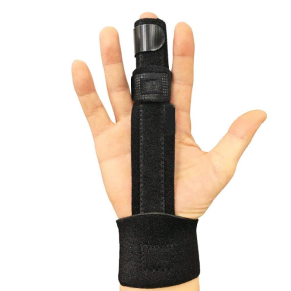 【送料無料】 指サポーター ばね指 突き指 骨折 腱鞘炎 リハビリ サポーター 人差し指 手 親指 人差し指 中指 薬指 小指 全指適応 左右兼用 フリーサイズ 調節可能 手首 黒色