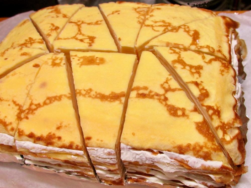 極上!チーズクリームのミルクレープ「チッチケーキ」Mサイズ・プレーン☆