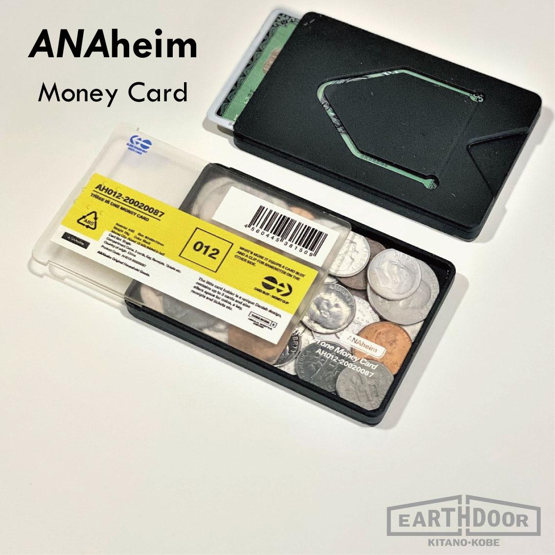 スライド式でコインも見やすい優秀なマネーカードケース マネー カード ケース コインケース アナハイム ANAhaim Money Card おしゃれ 収納 小物収納 キーホルダー アクセサリー 小物 メンズ ピアス トレー 激安通販 パスケース ICカード マネークリップ 札入れ