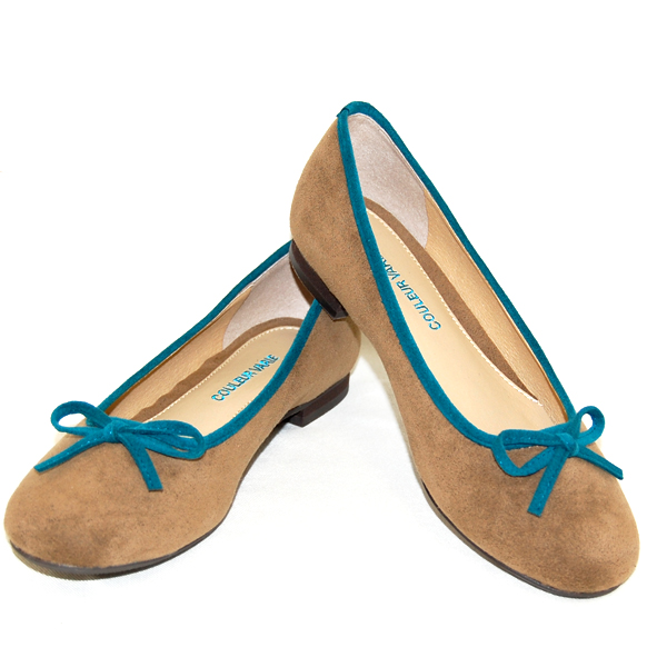 The round toe ballet shoes that No. 678/ is cute. Wear it with ribbon; the coloration of the mouth is accent 10P03Dec16