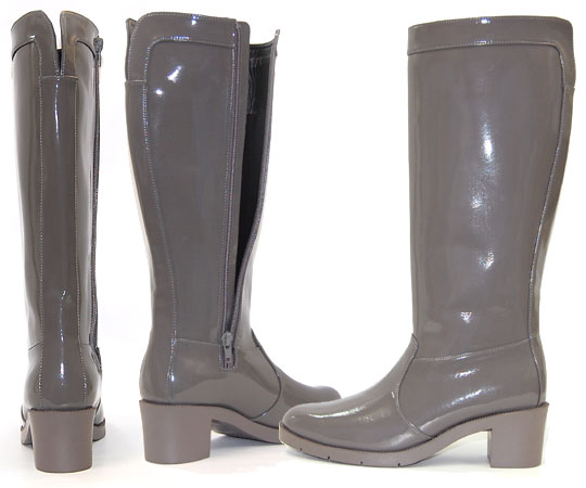 No.77483/ popular! Stylish enamel rain boots with a heel. With a nice 10P03Sep16