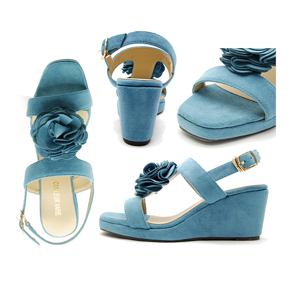 The sandals that a large corsage is very cute. It is direction ♪ /CV288201apap8 10P03Dec16 in the step that is beautiful with wedge sole and a strap