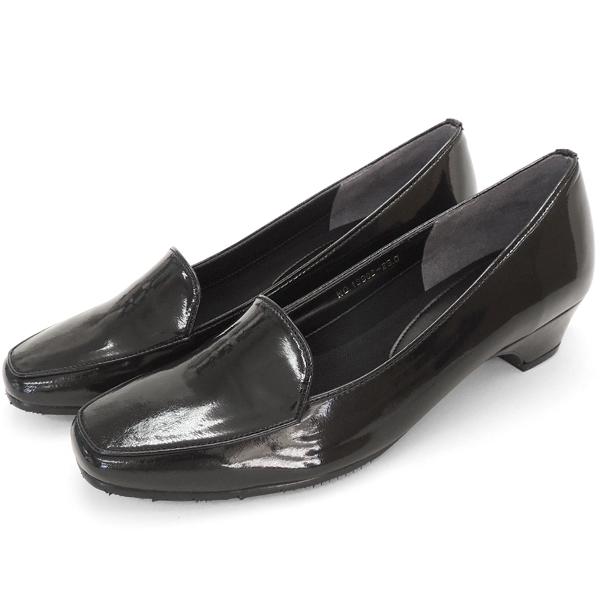 パンプス レイン エナメル レディース 女性用 ブラック スクエアトゥ ブランド バスクラフト BATH CRAFT No.12902bl