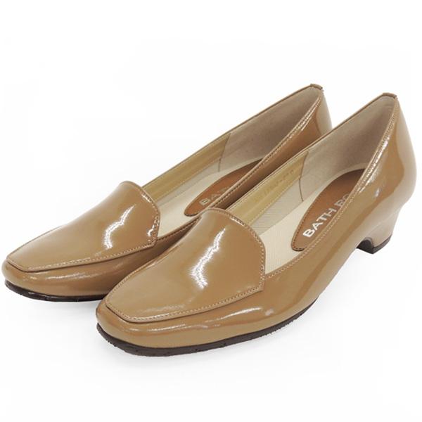 No.12902ok/スーツにも合うシンプルレインパンプス。スクウェアトゥのデザインが上品。エナメル素材もおしゃれ! (レディース 女性用 パンプス シューズ おしゃれ レイン レインシューズ レイングッズ 22 23 24センチ オーク 雨靴 晴雨兼用