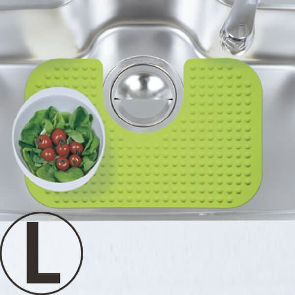 Silicone Sink Mat (L / Green)