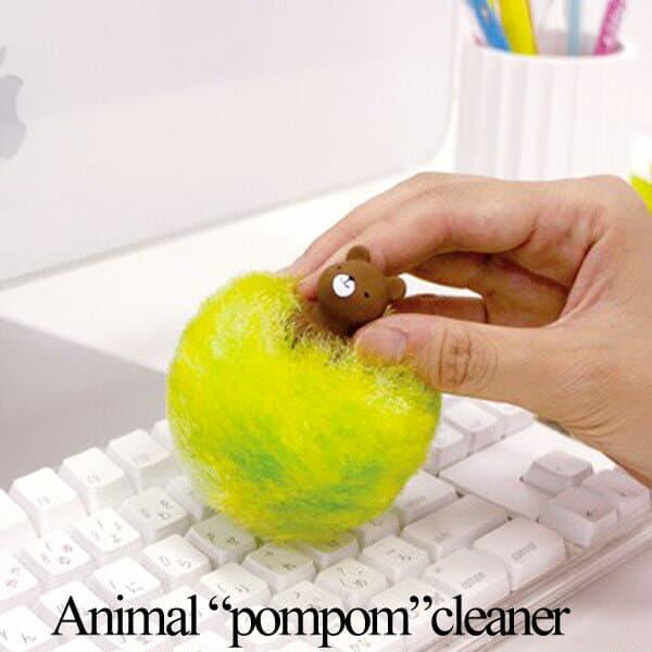 먼지(자랑) 잡기 「마나」애니멀 펑펑 클리너 소유손의 동물 모티프가 매우 큐트, 컵에 끝낼 수 있는 사랑스러운 펑펑 먼지(자랑) 잡기
