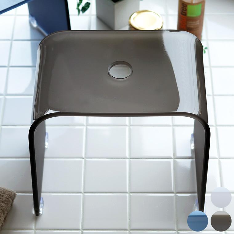 【送料無料】アクリルバスチェア「Foschia(フォスキア)」風呂イス(32型)【バスチェア アクリル バスチェアー 腰かけ フロイス 風呂椅子 高さ32cm クリア バススツール おしゃれ シンプル 透明 無地】