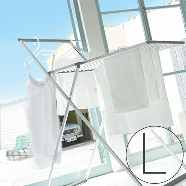 KAKAL(カカル)ランドリースタンド スタンダードタイプKL-L【物干し台 室内干し 部屋干し 物干しスタンド 折りたたみ コンパクト アルミ 軽量 キャスター付き セキスイ ハンガー セーター 洗濯物 スタイリッシュ シンプル おしゃれ】