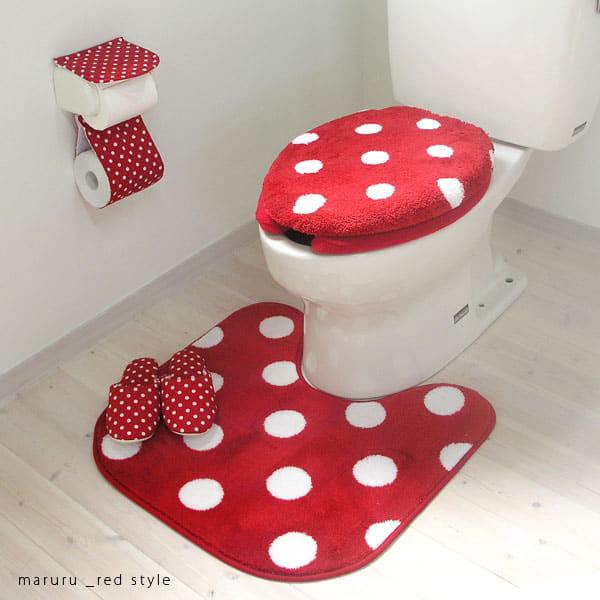 トイレマットマルル Maruruレッドマット トイレ トイレット トイレタリー トイレグッズ トイレ用品