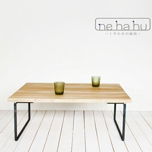 ローテーブル「nehahu」くすのきローテーブル(幅1600mm)【机 サイドテーブル 木製家具 インテリア 楠 楠木 クスノキ】【受注生産】