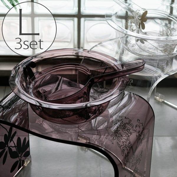 バスチェアL&洗面器&手桶「SARINA2(サリナ2)」3点セット【送料無料 バスチェア アクリル セット おしゃれ】【あす楽】