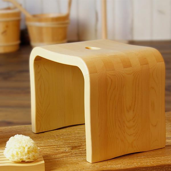日本製 バスチェア「ITEM」風呂イス(A(アーチ型))【送料無料 風呂椅子 バスチェアー 椅子 フロ椅子 ヒノキ 木製 ひのき】【メーカー直送】