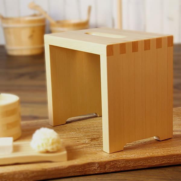 日本製バスチェア「ITEM」風呂イス(B(コの字型))【送料無料 風呂椅子 バスチェアー 椅子 風呂いす 木製 ひのき ヒノキ】【メーカー直送】
