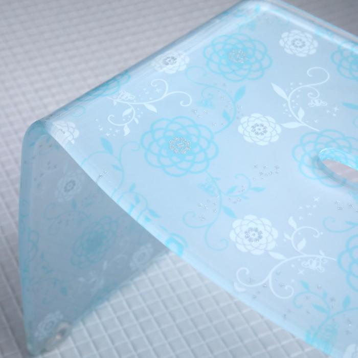 《着後レビューで選べる特典》 バスチェア アクリル製 花柄 フラワーモチーフ アクリルバスチェアー シャワーチェア バスチェアー 風呂イス 風呂椅子 お風呂いす お風呂椅子 [オフホワイト/コーラルピンク/ペールブルー] 高級感 おしゃれ firulo