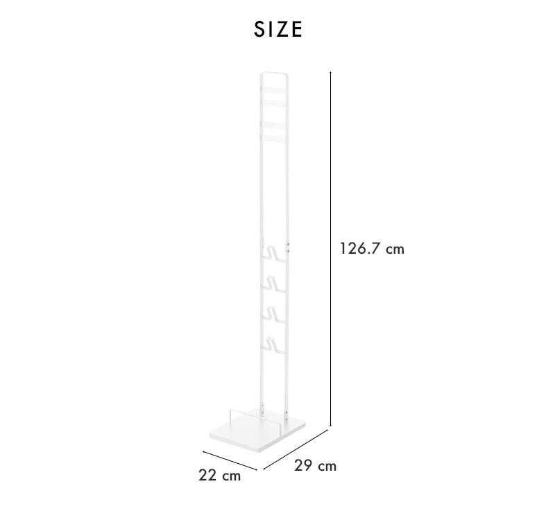 ダイソン掃除機スタンド コードレスクリーナースタンド タワー tower ホワイト ブラック 03540 03541 dyson ダイソン 壁寄せ 掃除機 充電 スタンド V10 Animal+以外 V8 V7 V6 DC59 DC61 DC62 DC75 コードレス スティッククリーナースタンド 収納 おしゃれ 山崎実業 YAMAZAKI