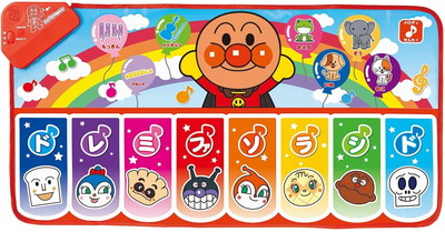 日本 まとめ買いで最大5%オフクーポン配布中 全身で音楽あそび アンパンマンドレミファステップマット 1着でも送料無料 アンパンマン それいけ