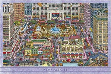 ジグソーパズル 迷路探偵ピエール ニュー メイズ 引出物 1000ピース 10-1382 通販 激安◆ シティ