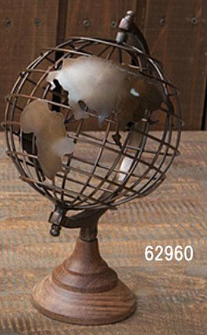 地球儀 アンティーク風 おしゃれ アイアン オブジェ AUTENTICO グローブpo-62960
