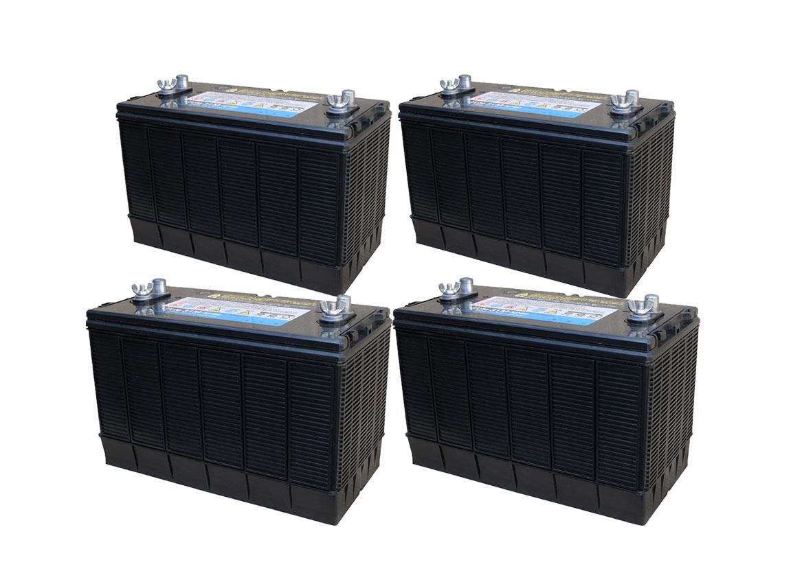 G&Yu[ジーアンドユー] 新ディープサイクルバッテリー G'cle31M-spec《お得な4個セット》(ACデルコ M31MF互換) 高品質・長寿命グレードアップ版