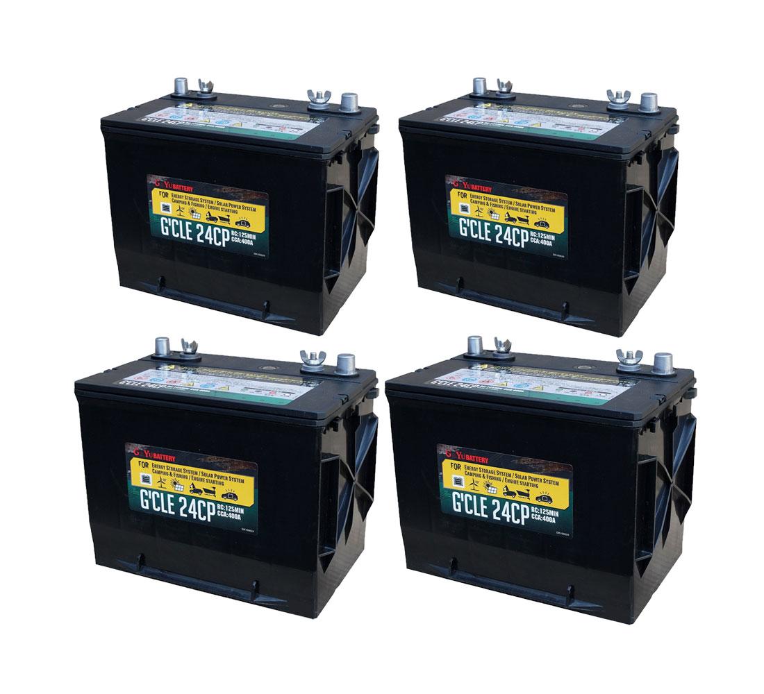 G&Yu[ジーアンドユー] 新ディープサイクルバッテリー G'cle24CP《お得な4個セット》(ACデルコ M24MF互換) 高品質・長寿命グレードアップ版