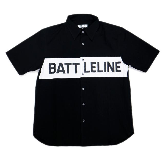 【お買い物マラソン ポイント2倍】 BATTLELINE battle line バトルライン S/S SHIRT ロゴデザインドッキング半袖シャツ LOGO DESIGN DOCKING SHORT SLEEVE SHIRTS TOPS トップス コットン COTTON メンズファッション ストリート系 トレンド オシャレ かっこいい モテる