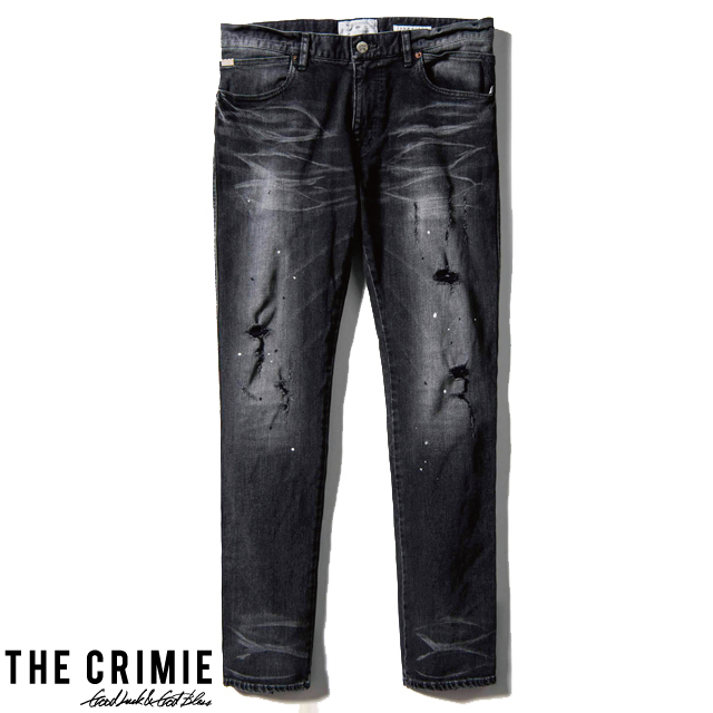 【スーパーSALE セール ポイント2倍】 CRIMIE クライミー BORN FREE STRETCH BLACK GARAGE USED SLIM JEANS CRA1-BF1B-PT02 2019年秋冬