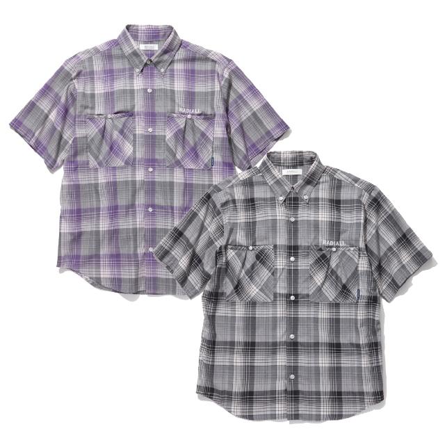 【スーパーSALE ポイント20倍 1327939】 RADIALL ラディアル Regular Collar Short Sleeve Shirt 半袖襯衣 コンプトンレギュラーカラーショートスリーブシャツ COMPTON R.C. SHIRT S/S [RA19SS-SH008] カジュアル ストリート 通販 オシャレ かっこいい モテる
