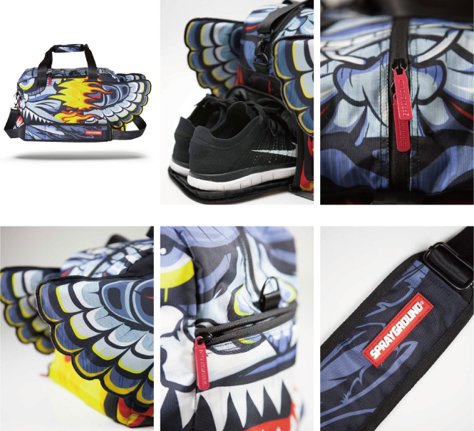Duffle Bag Head Hunter Wing Trippy Jungle Collection D071
