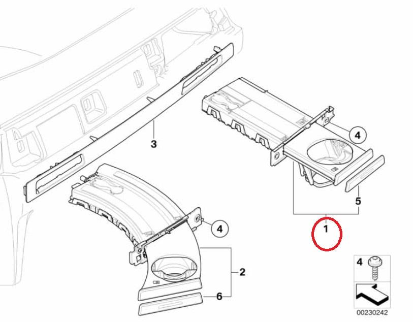 BMW 純正 3シリーズ E90 E91 E92 今ダケ送料無料 左端側 E93ドリンクホルダー 51459173470 黒色 右ハンドル用 カップホルダー 店舗