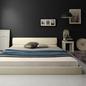 レザーベッド フロアベッド 高級感 モダンデザイン ローベッド GIRA SENCE ギラセンス ゼルトスプリングマットレス付き セミダブルサイズ