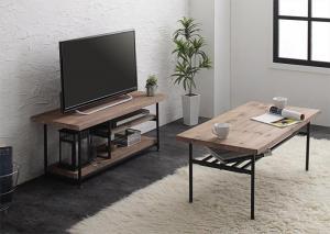杉古材ヴィンテージデザインリビングシリーズ Bartual バーチュアル 2点セット(テレビボード + センターテーブル) 幅90