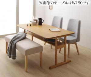 回転イス付き 北欧デザイン2本脚ダイニングテーブルセット woda ヴォダ 4点セット(テーブル + チェア2脚 + ベンチ1脚) W120