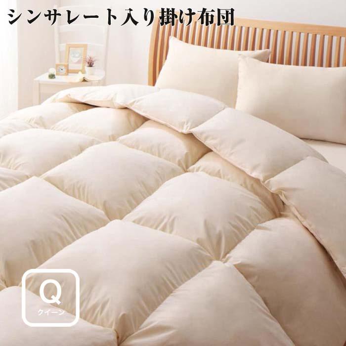 9色から選べる 洗える 抗菌 防臭 シンサレート 高機能 中綿素材入り掛け布団 クイーンサイズ付き 防ダニ 羽毛 収納ケース おすすめ 寝具 通販