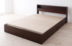 【送料無料】 ダブルベッド 棚付き コンセント付き 収納ベッド 【Sign】 サイン フレームのみ ダブルサイズ ダブルベット 収納付きベッド ベッドフレーム ヘッドボード 宮付き 引き出し付きベッド 大容量 ベッド下収納 木製ベット ダークブラウン