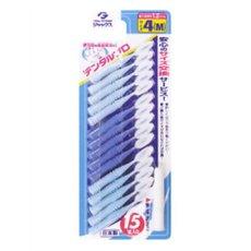 日本産 5個セット デンタルプロ 歯間ブラシ 4 正規品 MサイズX15本入 ×5個セット 実物