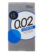 【5個セット】【即納】 JEX  iX(イクス) 0.02 2000 12個入り×5個セット 【正規品】  ジェクス コンドーム 002 ゼロゼロ ツー