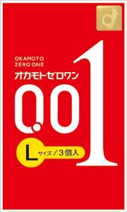 10個セット 送料無料 オカモト ゼロワン 0.01mm×10個セット 市販 現金特価 3コ入 正規品 Lサイズ