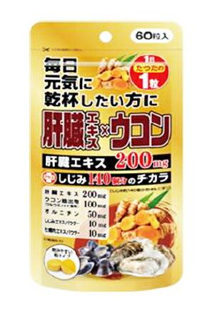 【10個セット】 【送料・代引き手数料無料】肝臓エキス×ウコン 60粒×10個セット 【正規品】