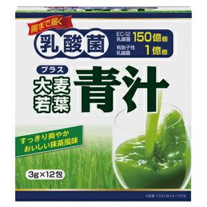 【送料無料】【20個セット】ユーワ 乳酸菌+大麦若葉青汁 3g×12包×20個セット 【正規品】 ※軽減税率対応品