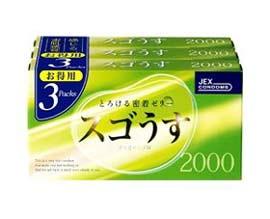 【10個セット】【送料・代引き手数料無料】【30箱入り】JEX スゴうす2000 コンドーム (12個入り×3箱パック)×10個セット 【正規品】