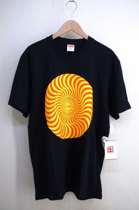 シュプリーム Supreme クルーネックTシャツ メンズ 2018年春夏新作 黒系 M 18SS Spitfire Classic Swirl T-Shirt【中古】【ブランド古着バズストア】【230918】