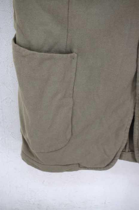 ヨウジヤマモトプールオム Yohji Yamamoto POUR HOMME テーラードジャケット メンズ緑系 JPN 2 12SS 袴期 製品染め加工 異素材切替2Bテーラードジャケット ブランド古着バズストア240419fg6b7yY