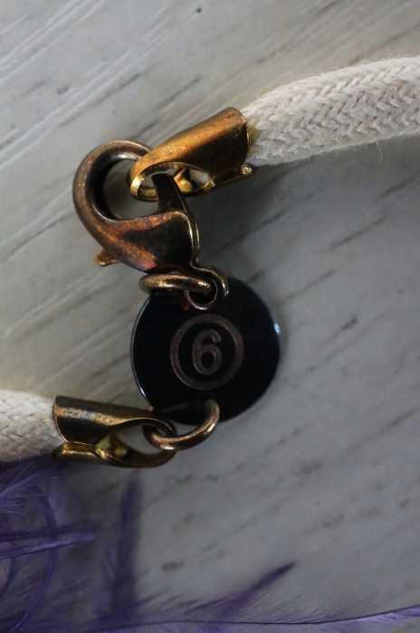 エムエムシックス メゾンマルジェラ MM6 Maison Margiela ネックレス・ペンダント レディース紫系 × 白系フェザーチョーカー ブランド古着バズストアBAZZSTORE260120dCoerQWxBE